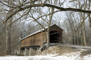 Snow Covered Meems Bottom Covered Bridge