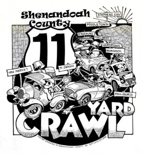 Yard Crawl Logo with Middletown and Stephens City