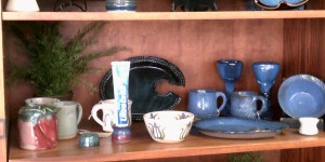 Local Pottery display