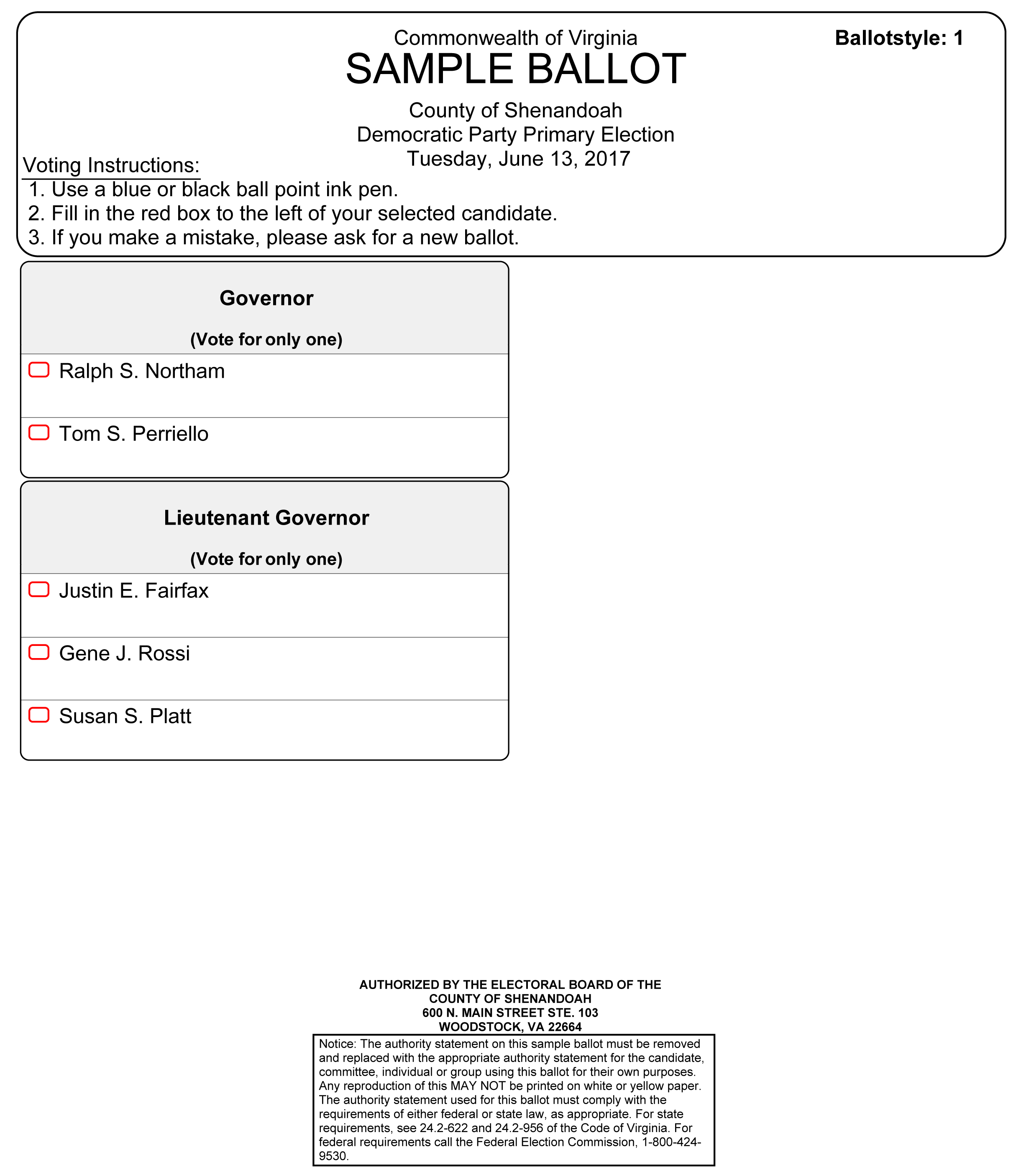 Official Sample Ballots - Voting & Elections